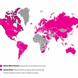 T Mobile Roaming Coverage Map