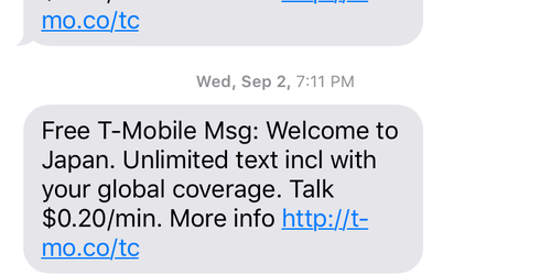 T Mobile Welcome Message